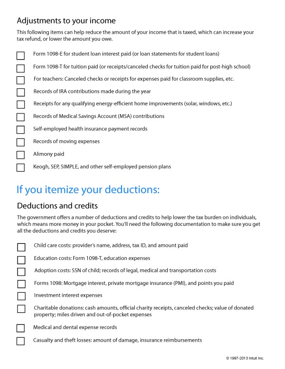 TurboTax_TaxPrepChecklist_Page_2