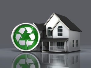 House and Recycle Symbol