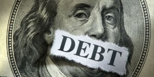 debt dollar bill