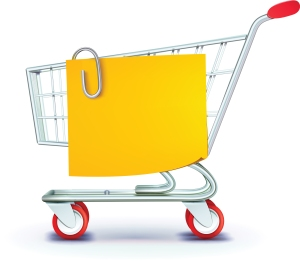 shopping cart postit