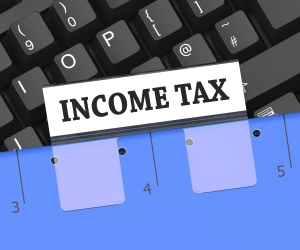 Income Tax File Meaning Paying Taxes 3d Rendering