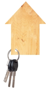 Wooden house with keys